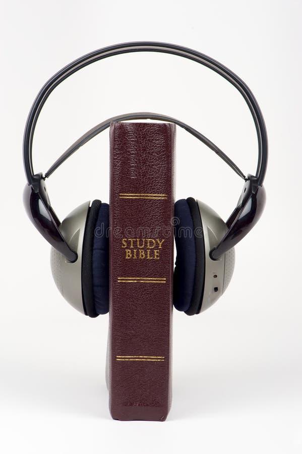 Audio Bijbel royalty-vrije stock foto's