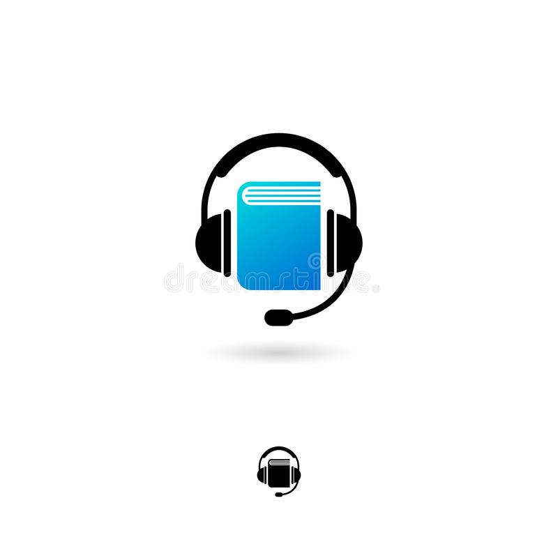 Audio book icon. Digital audio book logo. Online electronic library logo. vector illustration