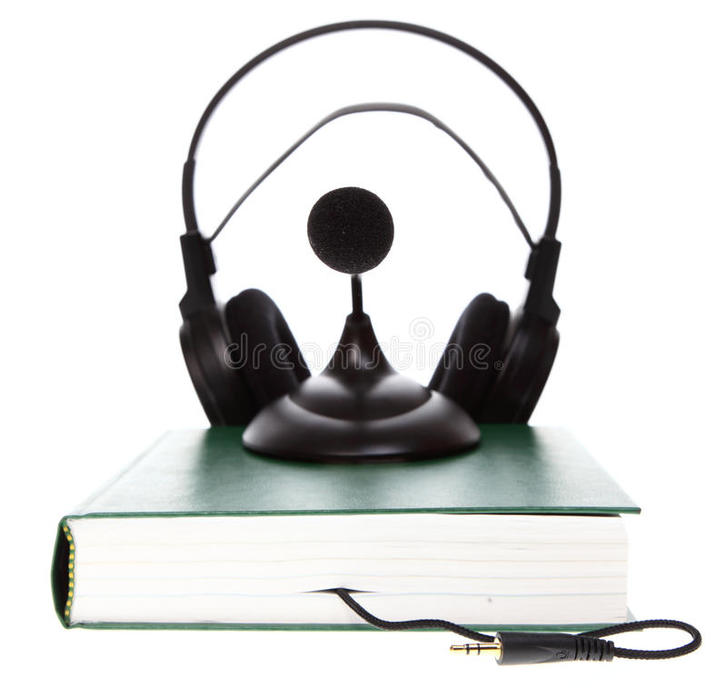 Download Audio books  on white stock image. Image of sound, library - 23111263