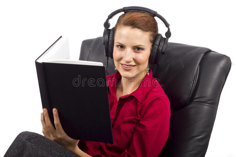 Download Audio Books stock photo. Image of lesson, comprehension - 32577456