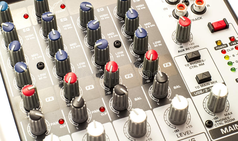 Audio bordo del miscelatore immagine stock libera da diritti