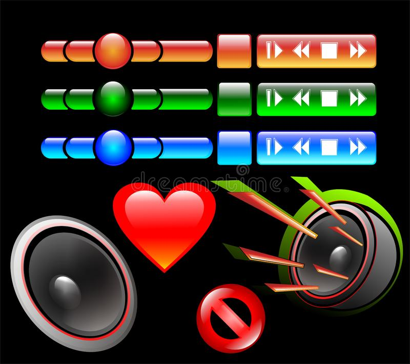 Download Buttons for player stock vector. Illustration of icon - 9263445