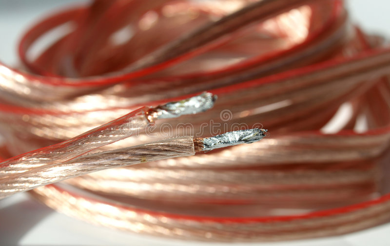 Audio cable royalty free stock photography