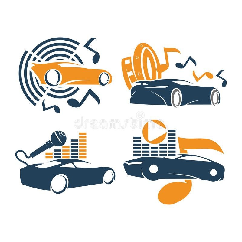 Free Audio Car System Logo Template Set Music Speaker Mic Note Royalty Free Stock Photos - 160836868