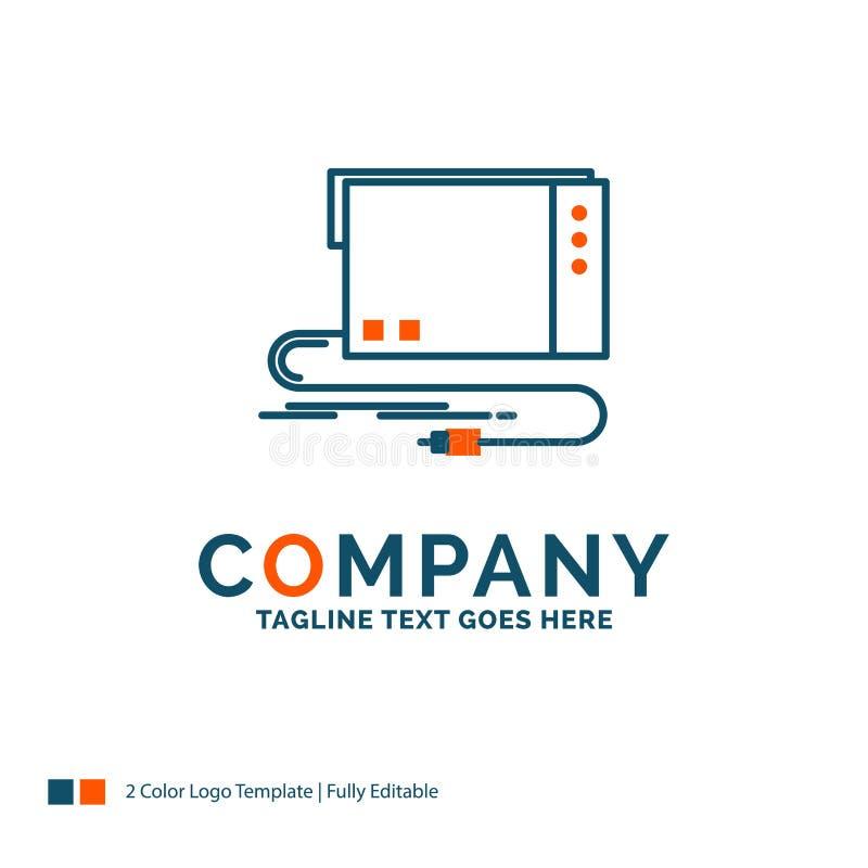 audio, carta, esterno, interfaccia, suono Logo Design Blu ed o illustrazione di stock