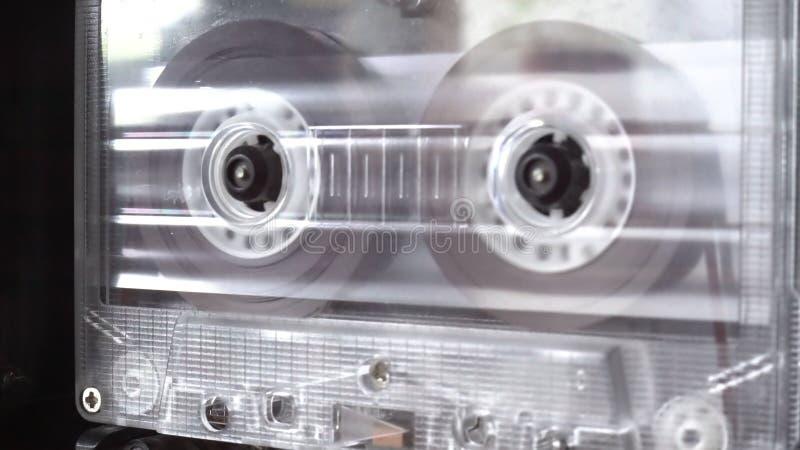 Audio cassetta che gioca nastro fotografia stock