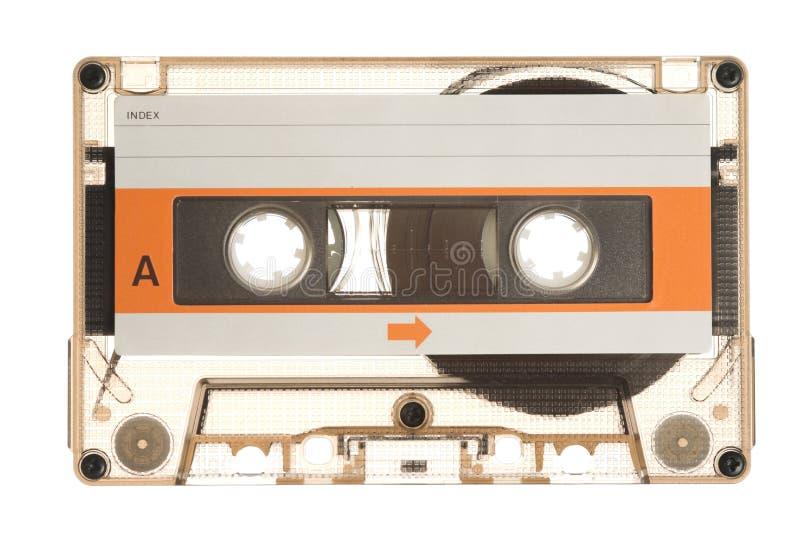 Audio cassette. Old audio cassette on white stock image