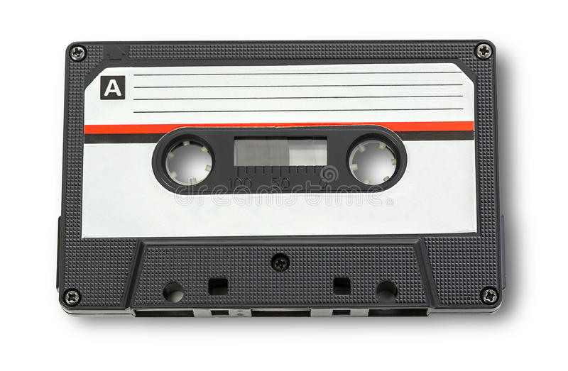 Audio cassette tape royalty free stock image