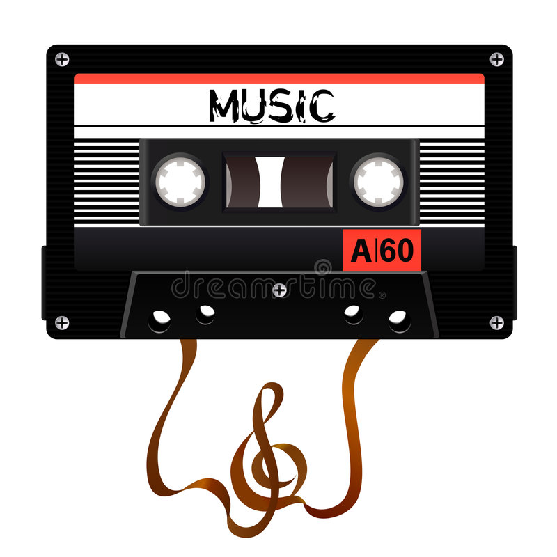 Download Audio cassette vector stock vector. Image of illustration - 7413710