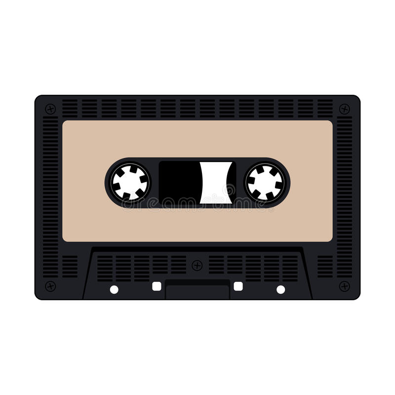 Audio cassetteband vector illustratie