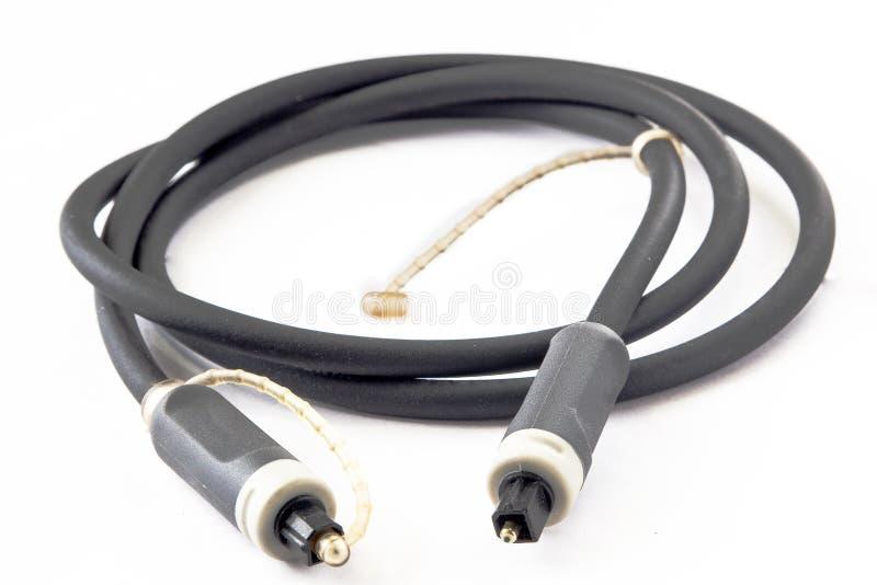Audio cavo ottico fotografia stock