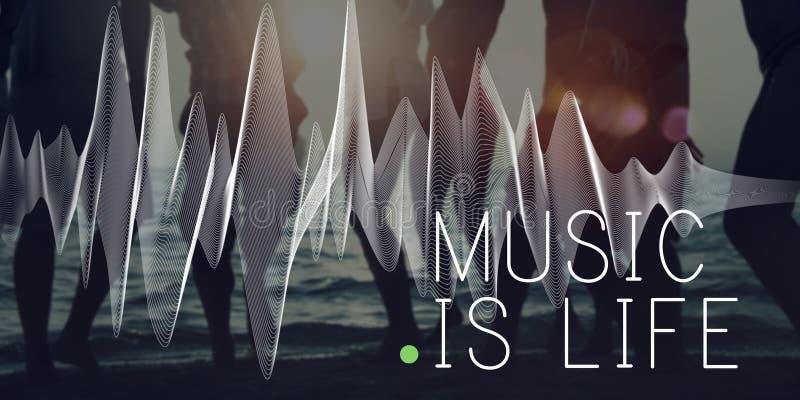 Audio concetto di ritmo di espressione di emozione della cultura di musica fotografia stock
