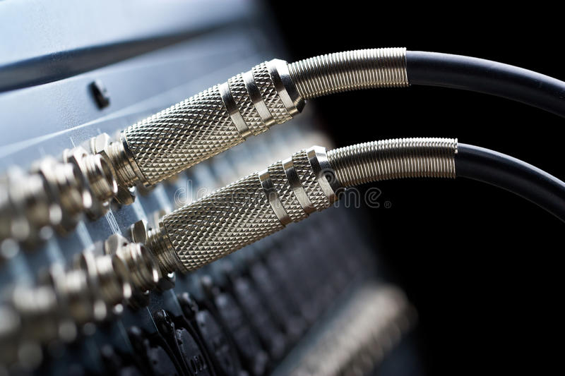 Audio connectors royalty free stock photography