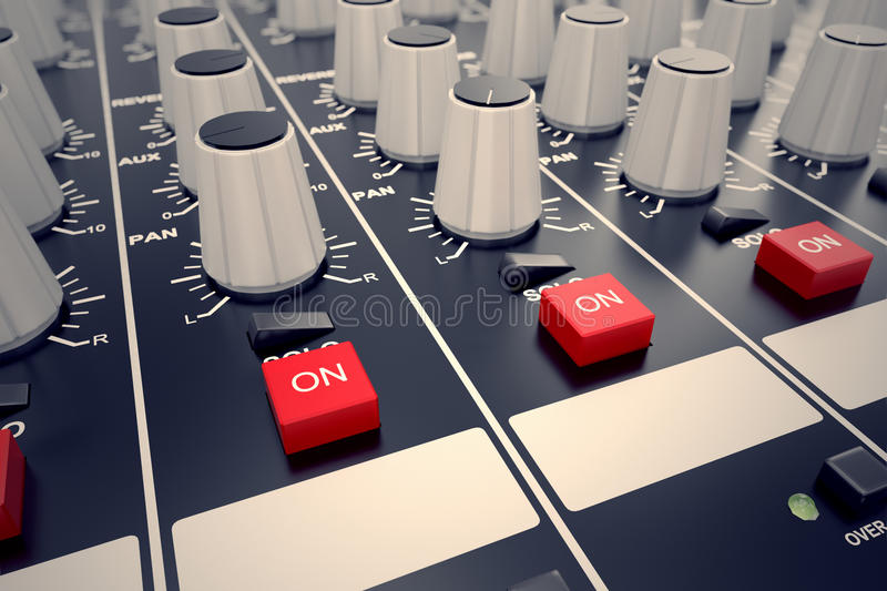 Audio Console. Stock Images