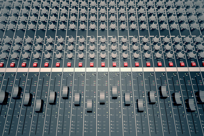 Download Audio Console. stock illustration. Image of electronic - 31410804