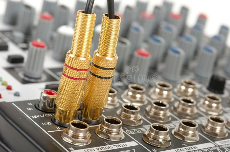 Download Audio control console stock photo. Image of connector - 8800502
