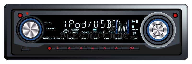 Audio controllo Syste dell'automobile moderna royalty illustrazione gratis