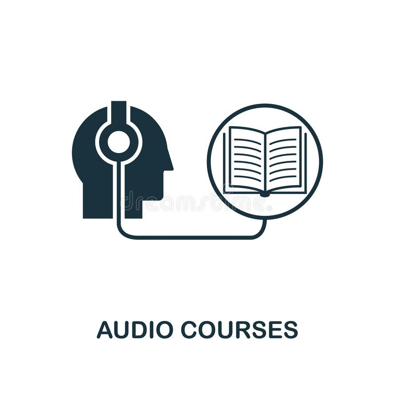 Audio Courses creative icon. Simple element illustration. Audio Courses concept symbol design from online education collection. Ob vector illustration