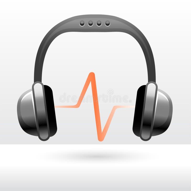 Audio cuffie illustrazione vettoriale