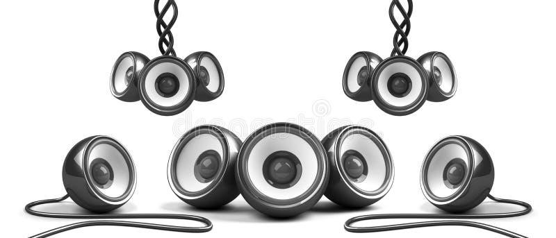 audio czarny elegancki system royalty ilustracja