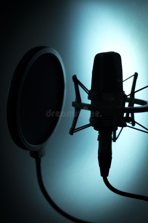 Audio de stemmicrofoon van de opname vocale studio royalty-vrije stock foto