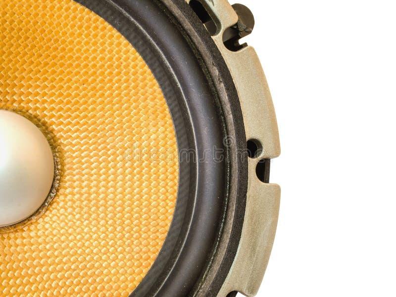 Audio dell'altoparlante dell'automobile immagine stock libera da diritti