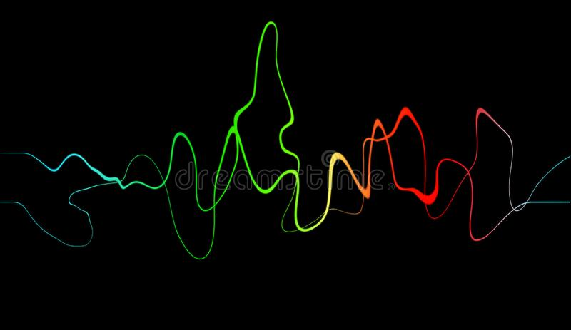 Audio digital equalizer technology, pulse musical. Abstract sound wave royalty free illustration