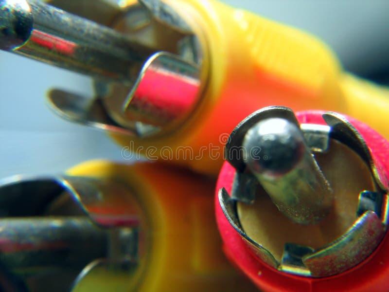 Download Audio e video connettori immagine stock. Immagine di elettricità - 212343