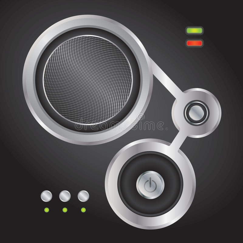 Audio element voor websites stock illustratie