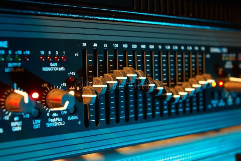 Audio equaliser stock foto's