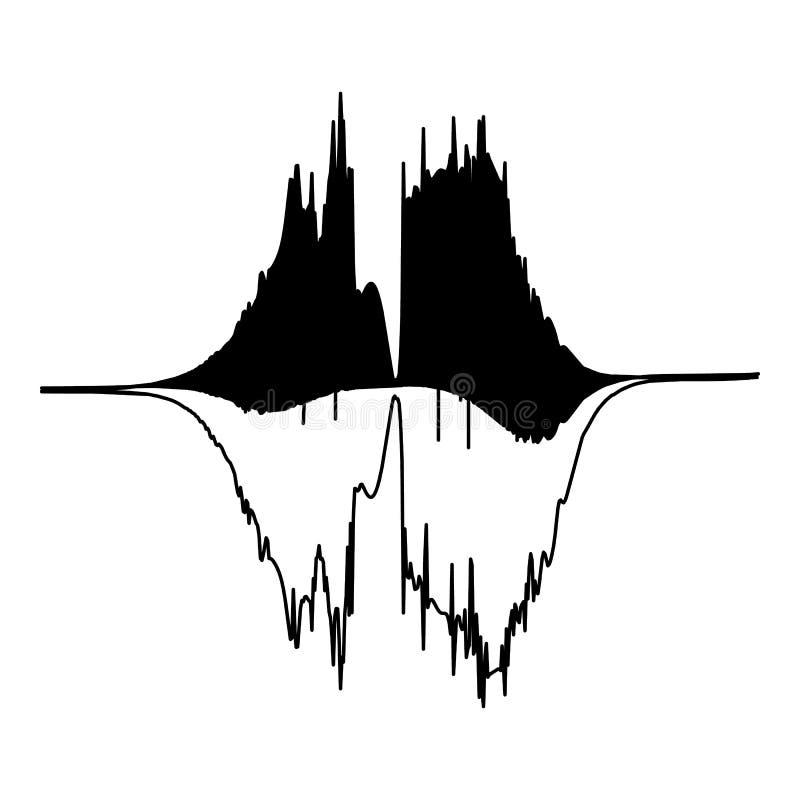 Audio equalizer level icon, simple black style. Audio equalizer level icon. Simple illustration of audio equalizer level vector icon for web royalty free illustration