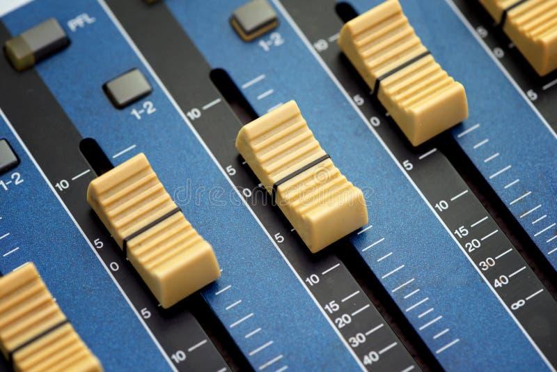 Audio faders zdjęcia royalty free