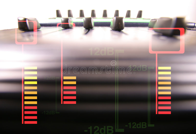 Download Audio faders stock image. Image of volume, blur, design - 483929