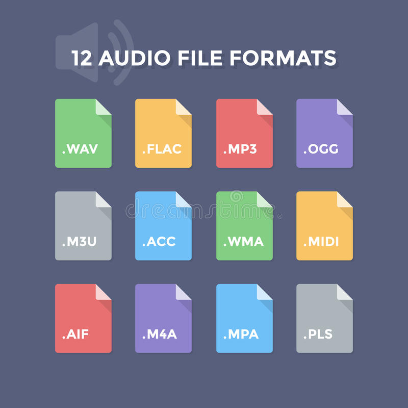 Audio File Formats royalty free illustration