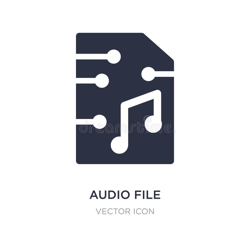 audio file icon on white background. Simple element illustration from Future technology concept vector illustration