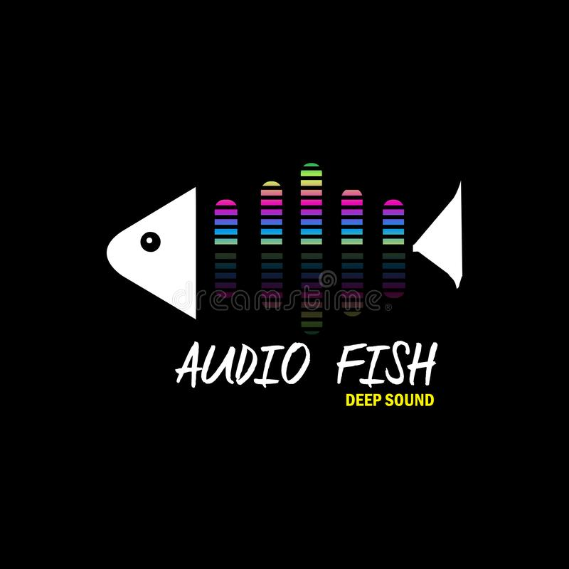 Audio fish for music for high quality music royalty free illustration