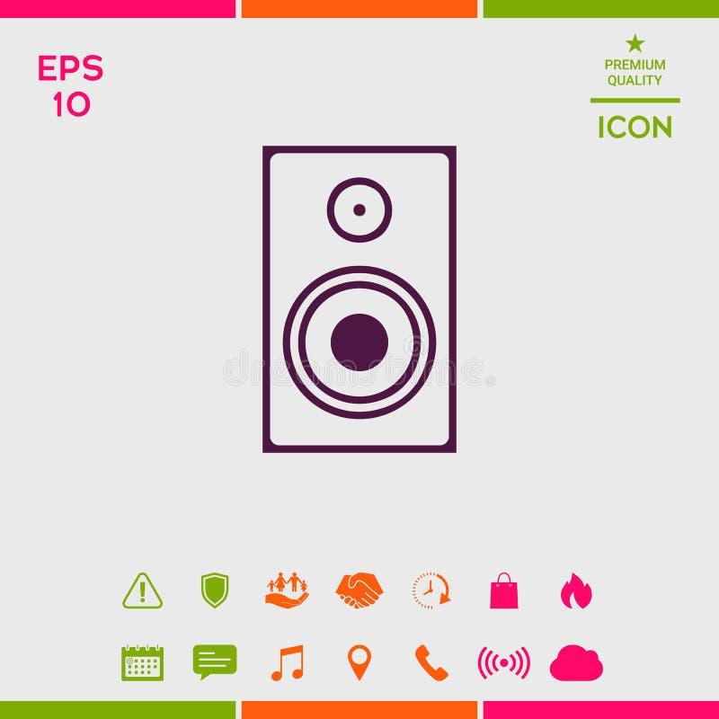 Audio Głośnikowa ikona royalty ilustracja