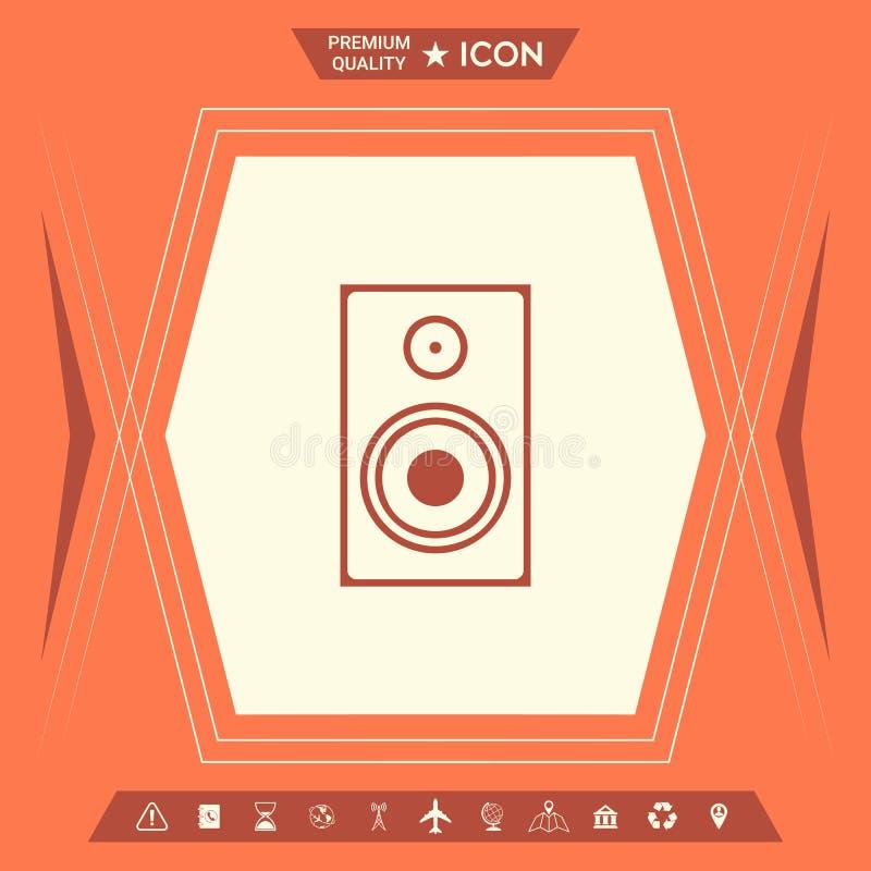 Audio Głośnikowa ikona ilustracji