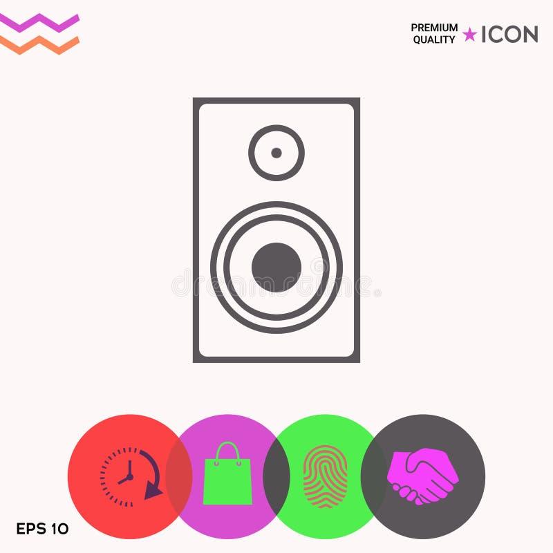 Audio Głośnikowa ikona ilustracja wektor