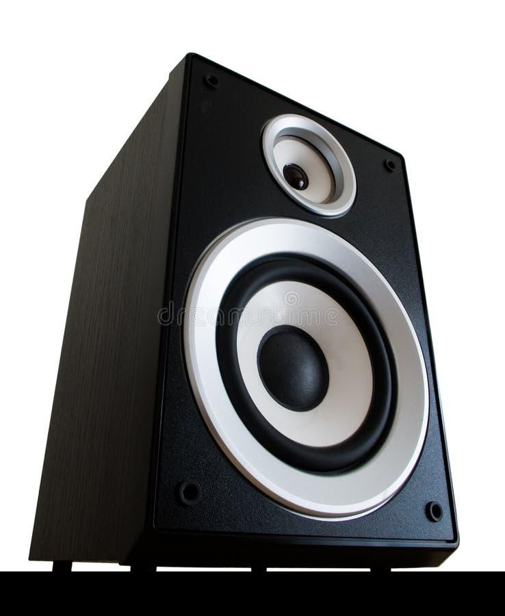 Audio geïsoleerdeo spreker stock afbeelding