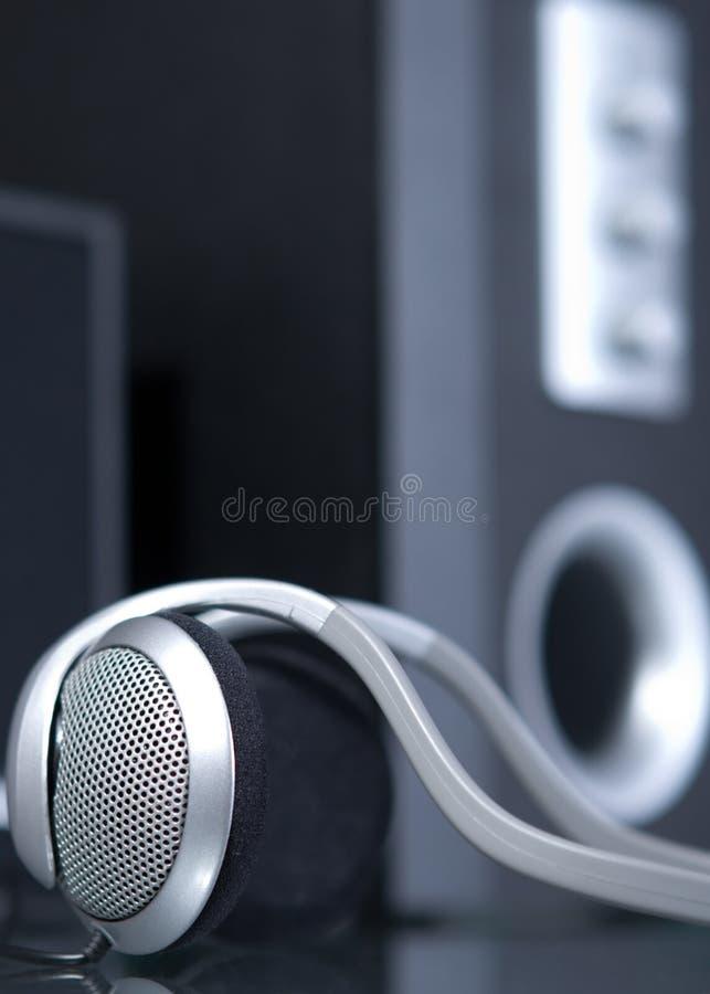 Audio hoofdtelefoons royalty-vrije stock afbeelding