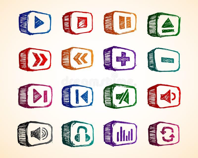 Download Audio Icon stock vector. Image of film, icon, black, network - 14543306