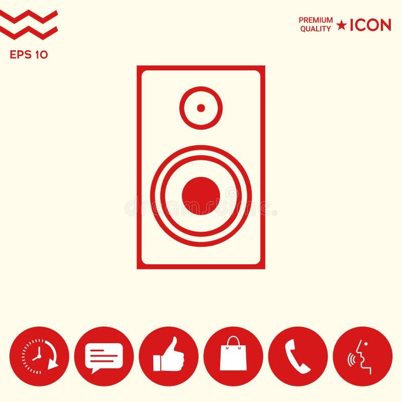 Download Audio Icona Dell'altoparlante Illustrazione Vettoriale - Illustrazione di elettronico, altoparlanti: 117982130
