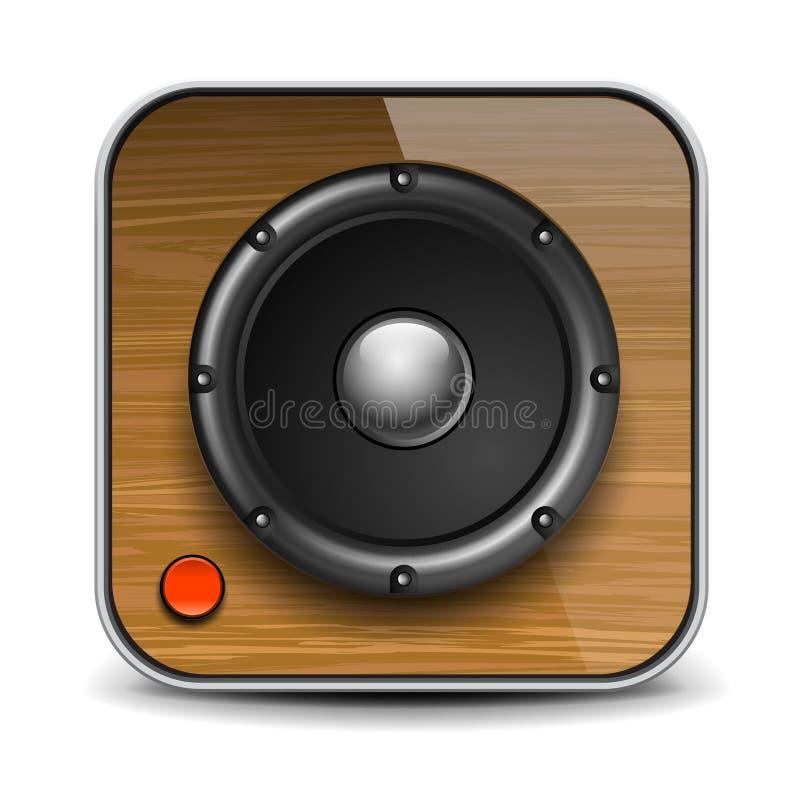Audio icona dell'altoparlante, illustrazione di vettore Eps10. royalty illustrazione gratis