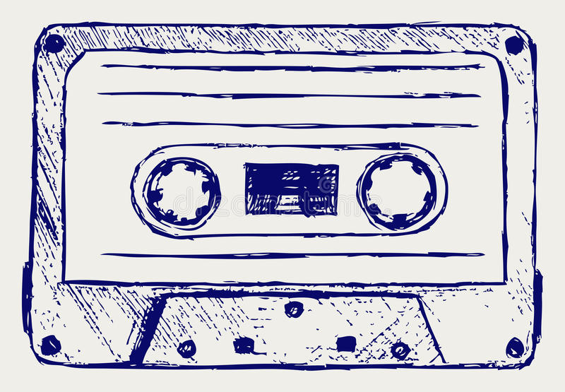 Audio kaseta ilustracja wektor