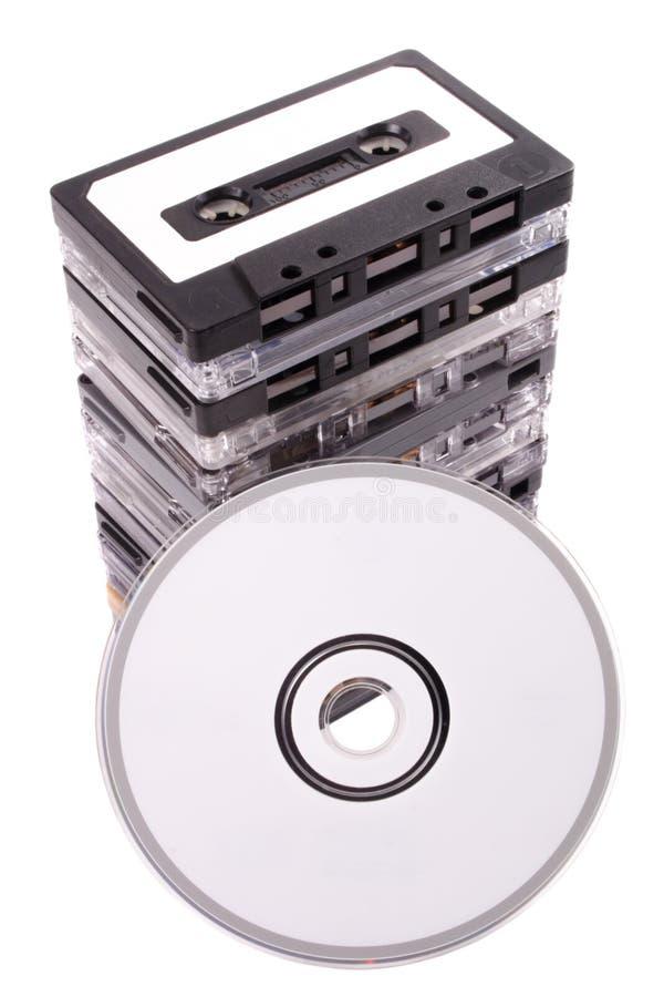 Audio kaseta cd zdjęcie stock