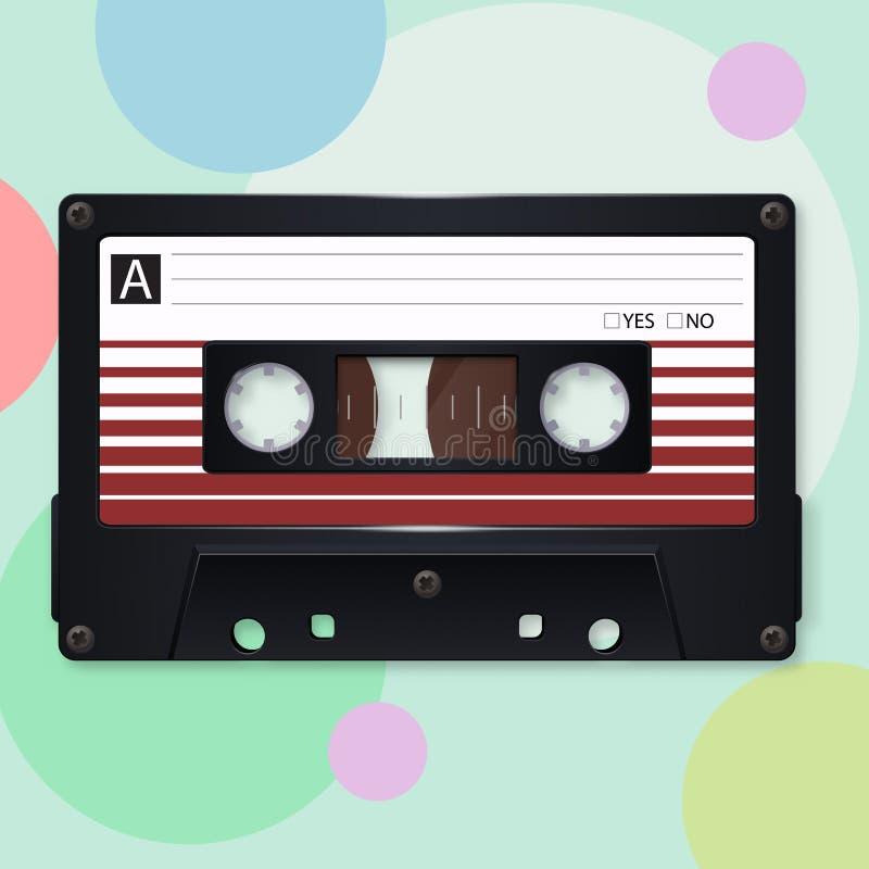 Audio kaseta również zwrócić corel ilustracji wektora ilustracja wektor
