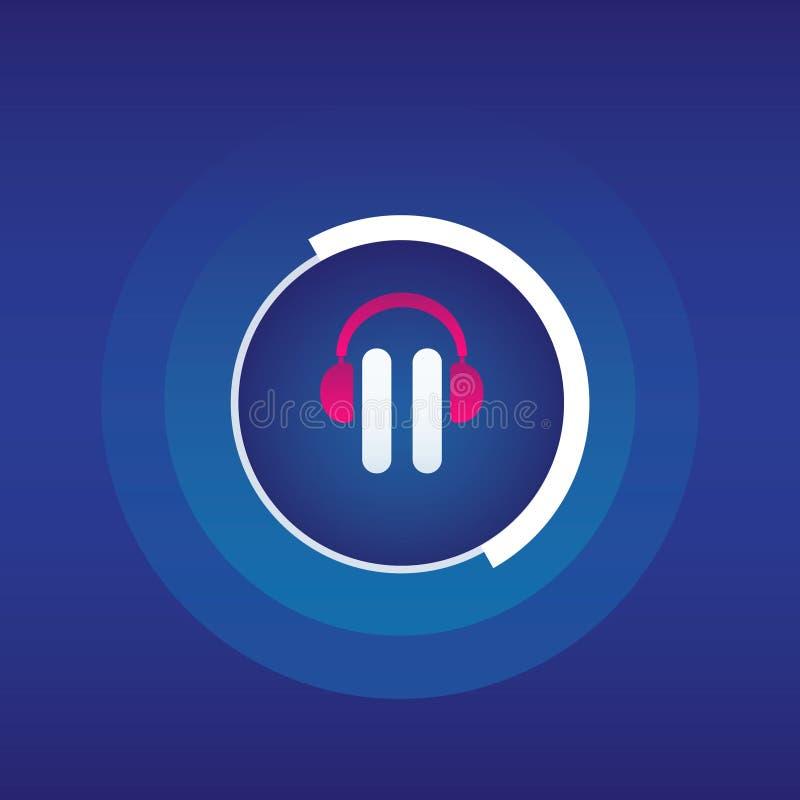 Audio logo/icona del libro Illustrazione di arte illustrazione vettoriale