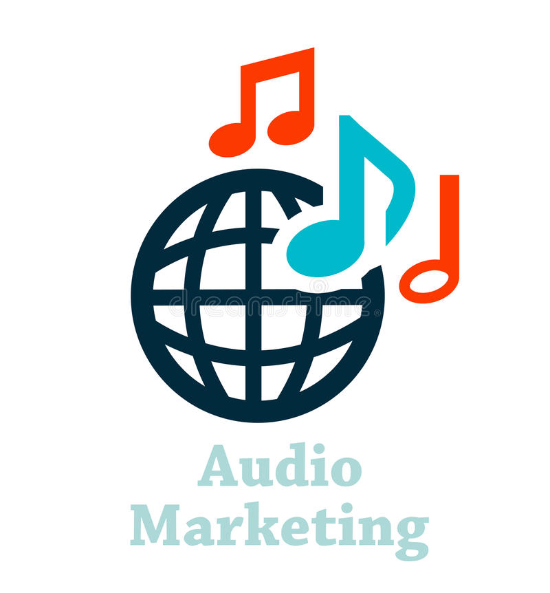 Audio marketing pictogram stock illustratie