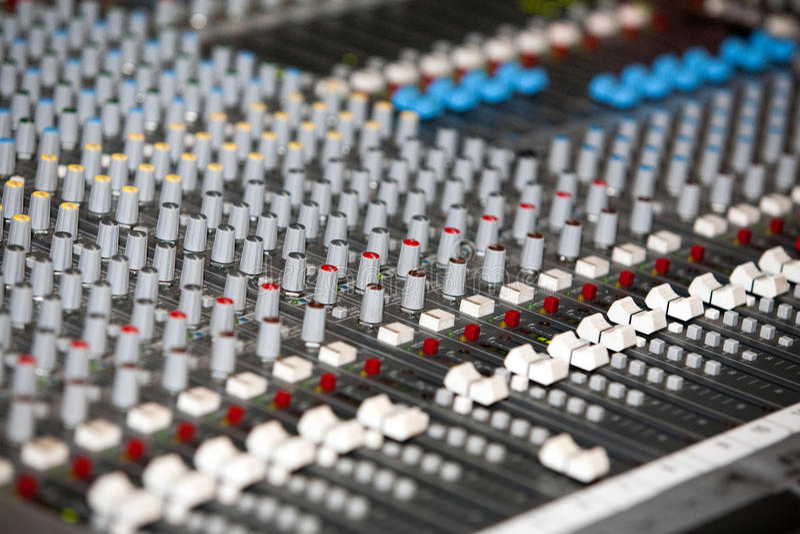 audio melanżer fotografia stock
